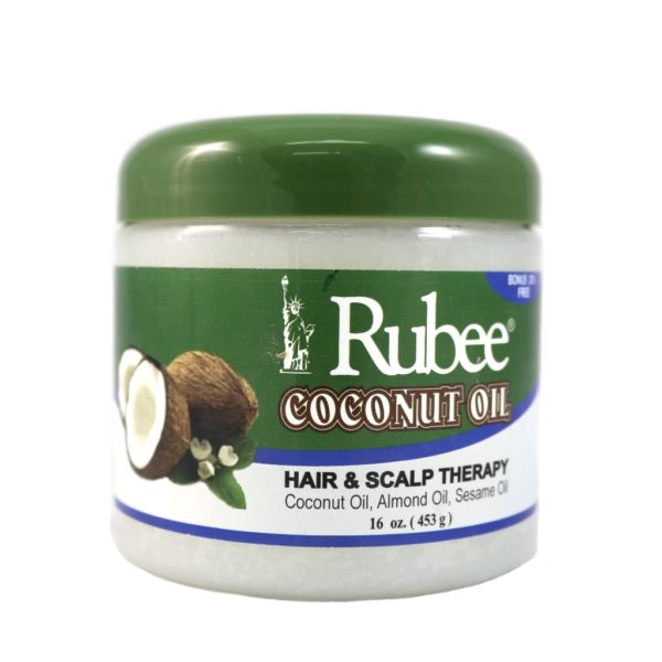 Rubee Coconut Oil Hair & Scalp Therapy 16oz